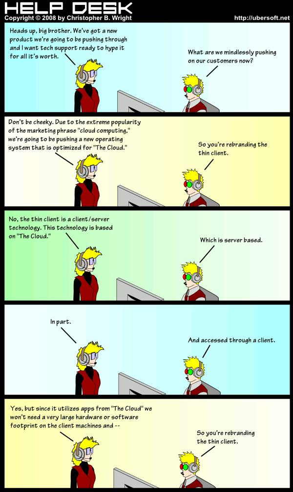 Thin Cloud Computing